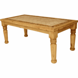 Santa Fe Marble Top Rustic Table
