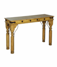 Santa Rita Rustic Console Table w/ Iron