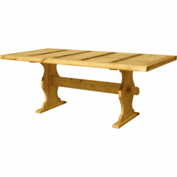 Santa Fe Rustic Wood Trestle Table