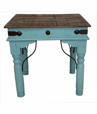 Santa Fe Rustic Turquoise End Table