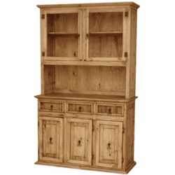 Santa Fe Rustic Wood China Cabinet Small