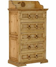 Santa Fe Star Wood Chest