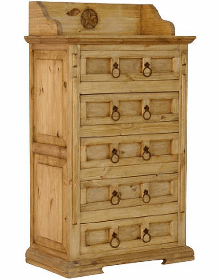 Santa Fe Star Wood Chest 8 Png