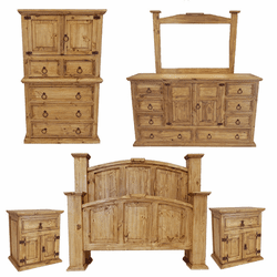 Santa Maria Rustic Mansion Bedroom Set
