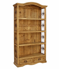 Santa Rita Mansion Pine Bookcase W/ Stars