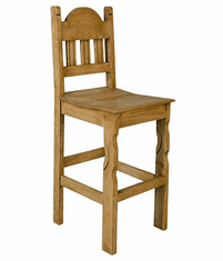 "Santa Rita Rustic Bar Stool 30"" Seat Height"