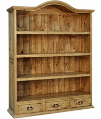 Santa Rita Rustic Bookshelf W/ 3 Drawers