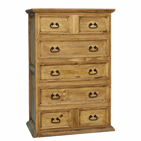 Santa Rita Rustic Chest 5 Drawers