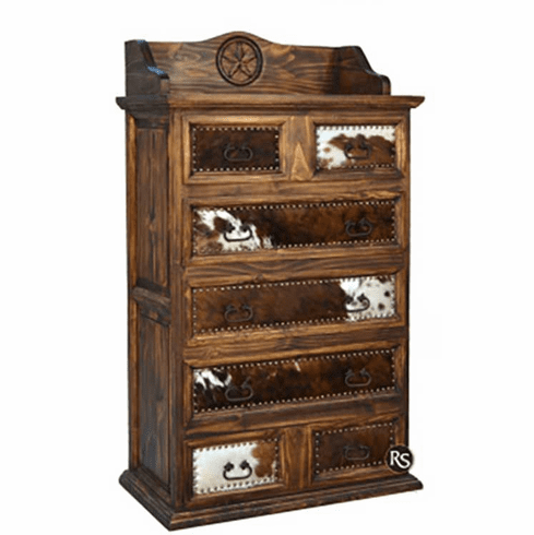 Santa Rita Rustic Chest With Cowhide & Star