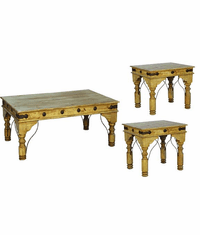 Santa Rita Rustic Coffee & End Table Set