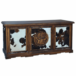 Santa Rita Rustic Cowhide Executive Desk with Star