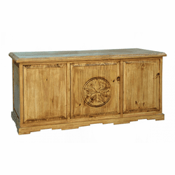Santa Rita Rustic Executive Desk W/ Star