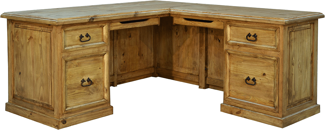 rustic L-shape desk
