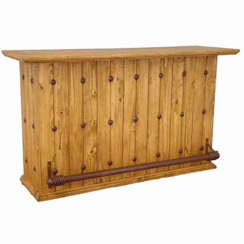 Santa Rita Rustic Wood Bar w/ Foot Rest