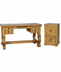 Santa Rita Writing Desk & File Cabinet Set