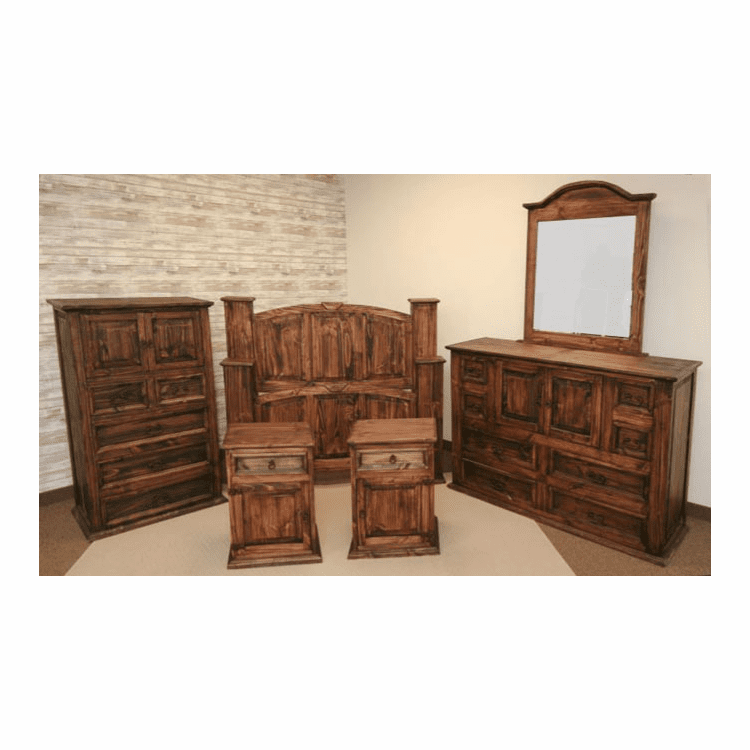 Santa Rosa Rustic Mansion Bedroom Set