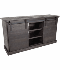 "Sevilla Barn Door 65"" Black TV Console"