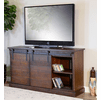 "Sevilla Barn Door 65"" Brown TV Console"