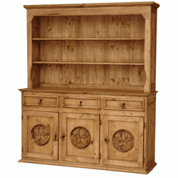 Sierra Large Star China Cabinet Hutch