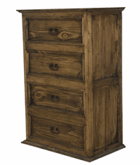 Sierra Leon Rustic 4 Drawer Chest Dark Stain
