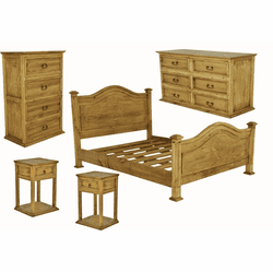 Sierra Leon Rustic Bedroom Furniture Set
