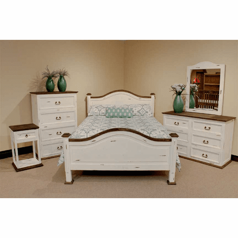 Sierra Leon Rustic White Bedroom Furniture Set