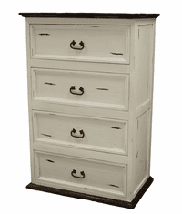 Sierra Leon White 4 Drawer Chest