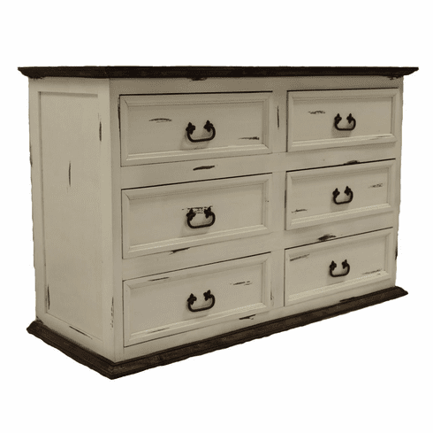 Sierra Leon White 6 Drawer Dresser