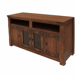 "Sierra Madre Rustic Lodge 62"" TV Stand W/ 4 Doors"