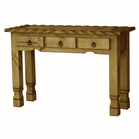 Rustic Pine Console Table and Pine Sofa Table