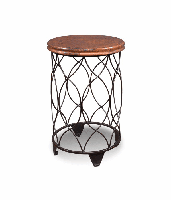 Sierra Round Copper Top Chair Side Table