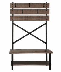Sierra Rustic Hall Tree With Bench