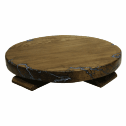 Sierra Rustic Lazy Susan W/ Turquoise Inlay
