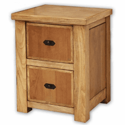 Sierra Rustic Lodge 2 Drawer File Cabinet