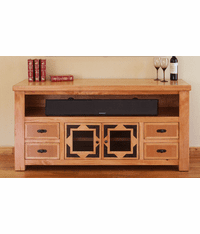 "Sierra Rustic Lodge 62"" TV Stand W/ 4 Drawers"