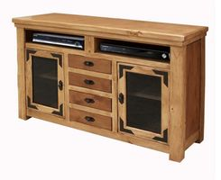 """Sierra Rustic Lodge 63"""" TV Stand with Drawers"""