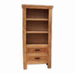 Sierra Rustic Lodge Bookcase With 2 Drawers