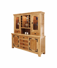 Sierra Rustic Lodge Buffet & Hutch Set