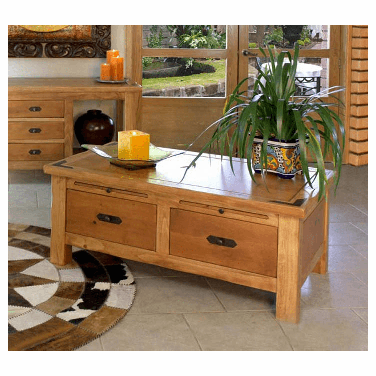 Sierra Rustic Lodge Cocktail Table w/ Casters