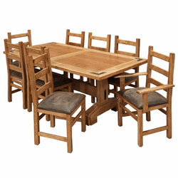 Sierra Rustic Lodge Dining Table Set