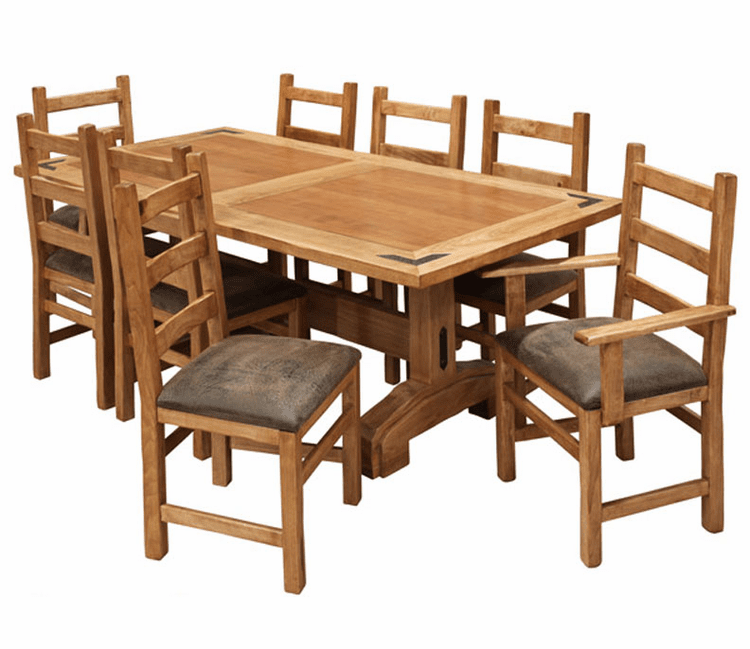 Rustic Lodge Dining Table Set