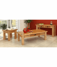 Sierra Rustic Lodge Living Room Table Set