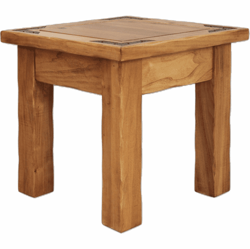 Sierra Rustic Lodge Square End Table