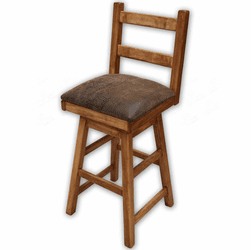 Sierra Rustic Lodge Swivel Barstool