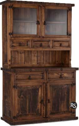 Old West Rustic Small China Cabinet $799.99