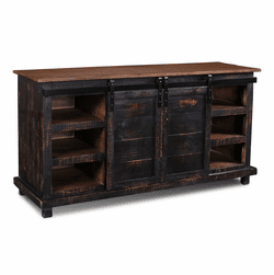 "Sonoma Barn Door 66"" TV Stand Black"