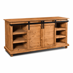 "Sonoma Barn Door 66"" TV Stand Honey Finish"