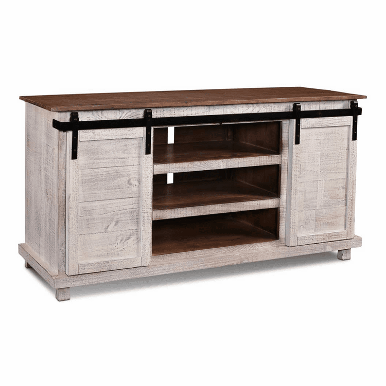 "Sonoma Barn Door 66"" TV Stand White"