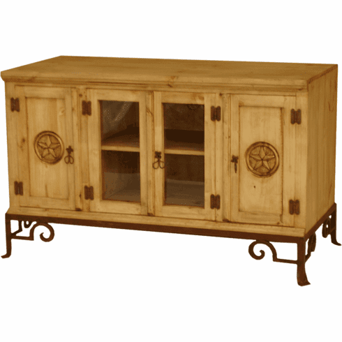 """Sonora 48"""" Rustic Star TV Stand W/ Base"""