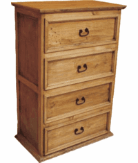 Sonora Rustic Tall Pine Chest Of Drawer